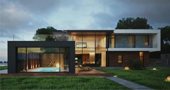 บ้านโทนขาวดำ