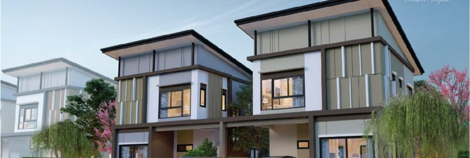Recommend a 2-storey twin house for free