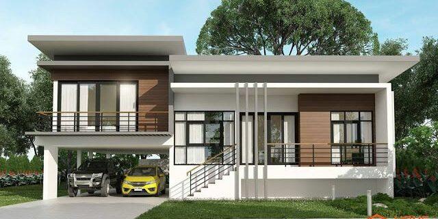 modern house ideas half floor