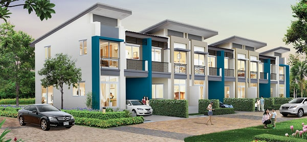 Offers townhouses for rent.